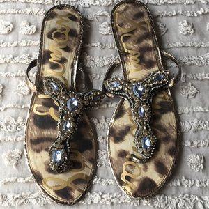 Sam Edelman embellished thong sandals sz 9